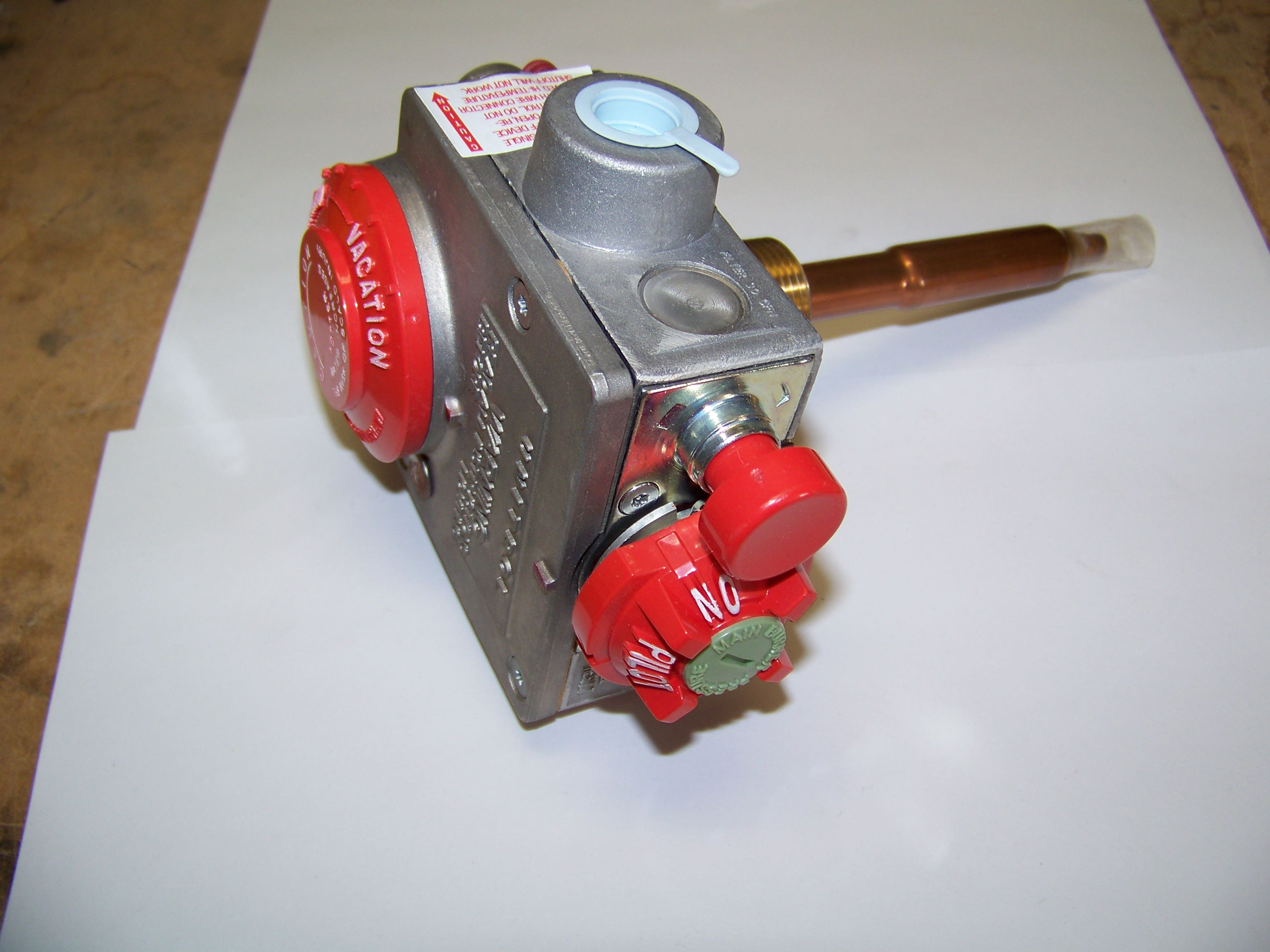 Photo of a Water Heater Gas Valve #110508