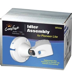 This is a photo of a Carefree Idler Assembly for Pioneer Lite #901074WHT.